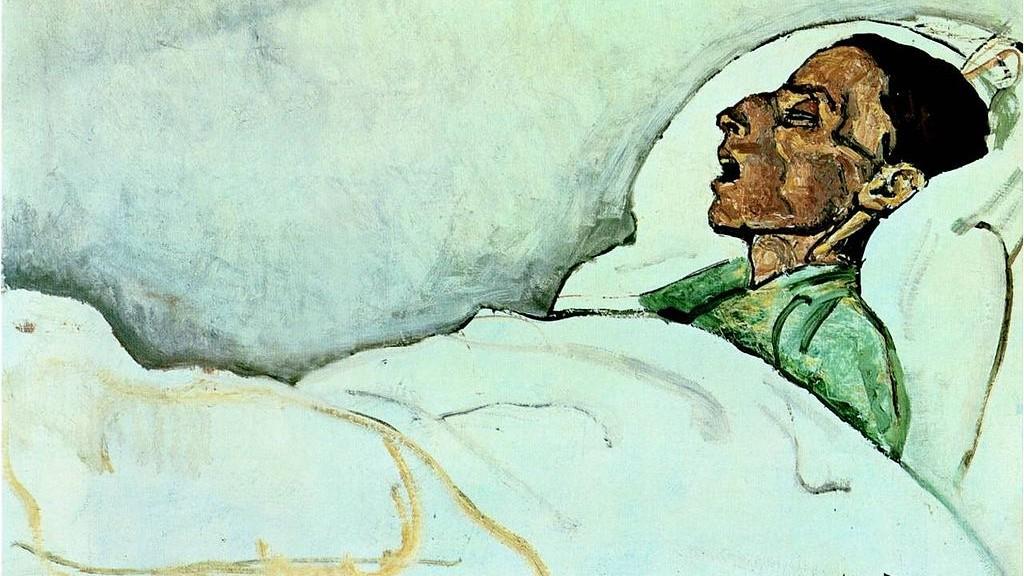 Ferdinand Hodler - Dying Valentine (1915)