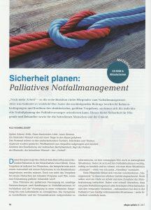 Sicherheit planen: Palliatives Notfallmanagement (Nils Wommelsdorf, Auszug aus: pflegen:palliativ 35/2017 Notfälle, Fischer Verlag)