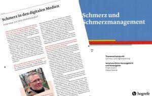 Schmerz in den digitalen Medien (Interview, Schmerz und Schmerzmanagement Jg.3, Heft 3/2019)