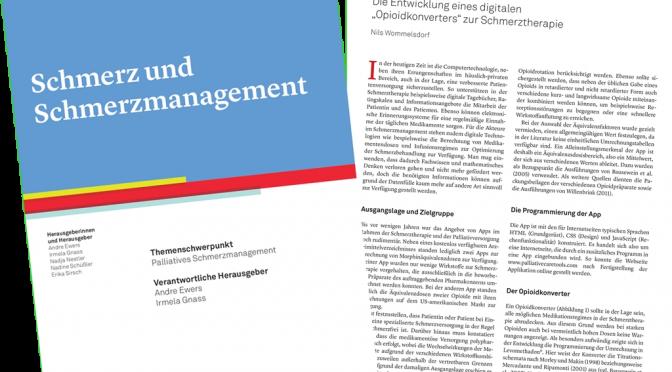 Artikel/PDF: Schmerzmanagement 2.0 (Schmerz und Schmerzmanagement Jg. 1, Heft 4/2017)