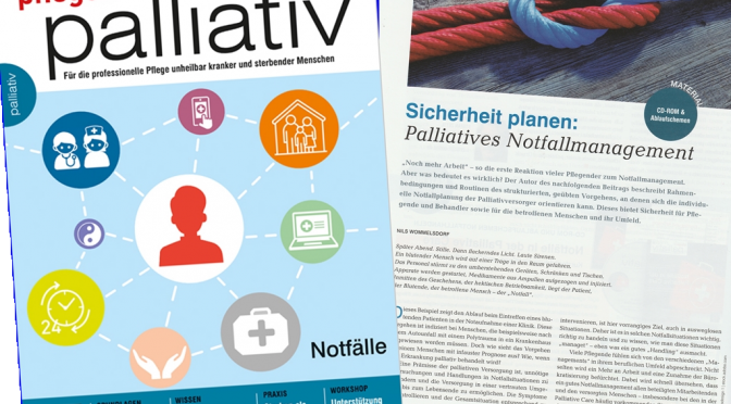 Artikel: Sicherheit planen: Palliatives Notfallmanagement (pflegen:palliativ 35/2017)